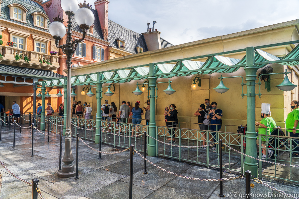 Queue for Remy's Ratatouille Adventure in EPCOT