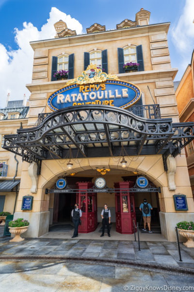 Remy's Ratatouille Adventure attraction entrance
