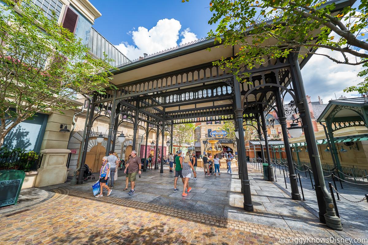 France pavilion going to Remy's Ratatouille Adventure