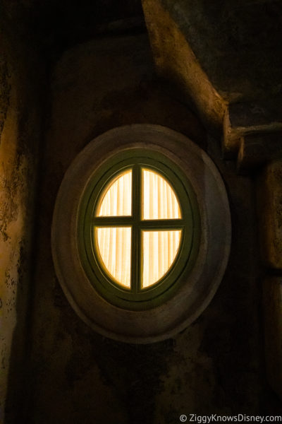 Window with a light on