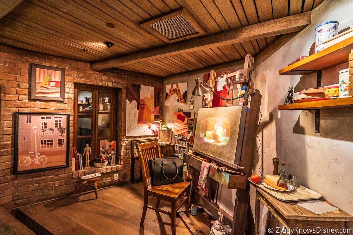 Artist's Studios in Remy's Ratatouille Adventure queue