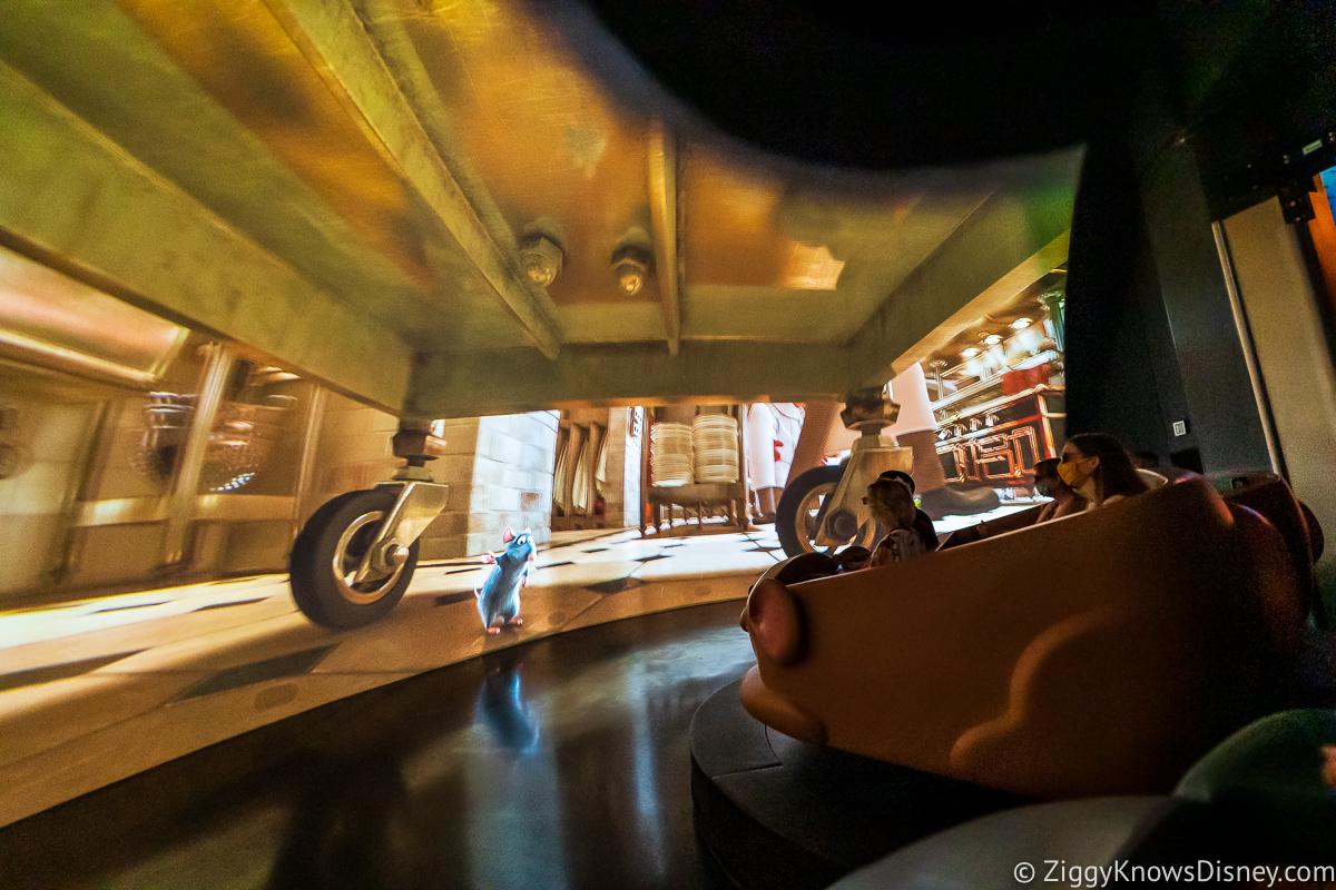 Hiding under a dolly Remy's Ratatouille Adventure