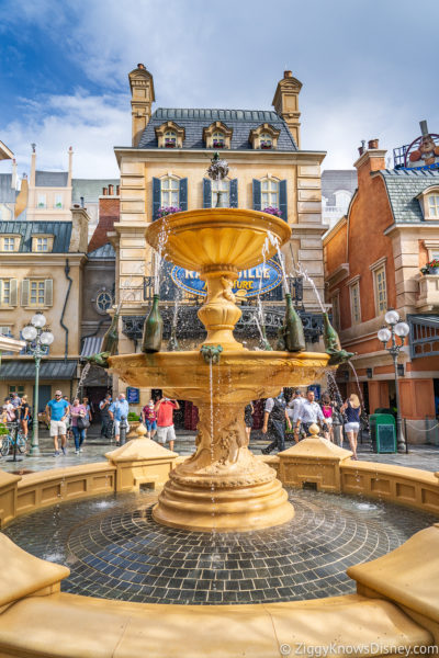 Fountain in front of Remy's Ratatouille Adventure