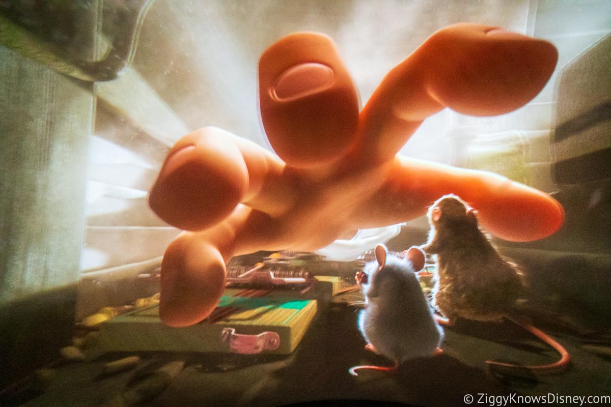 Remy's Ratatouille Adventure ride chase scene