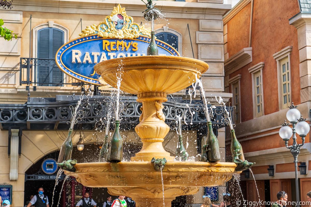 Remy Fountain at Ratatouille Adventure