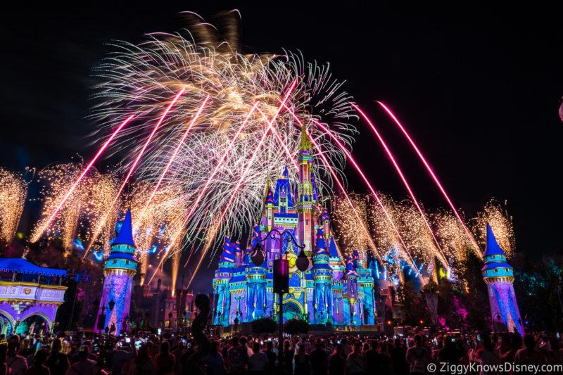 Disney Enchantment nighttime fireworks